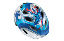 MET Genio Kinderfietshelm Kinderen blauw/wit